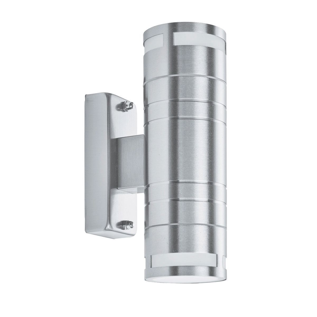 Ip44 Stainless Steel 2 Light Outdoor Wall Light With Clear Glass