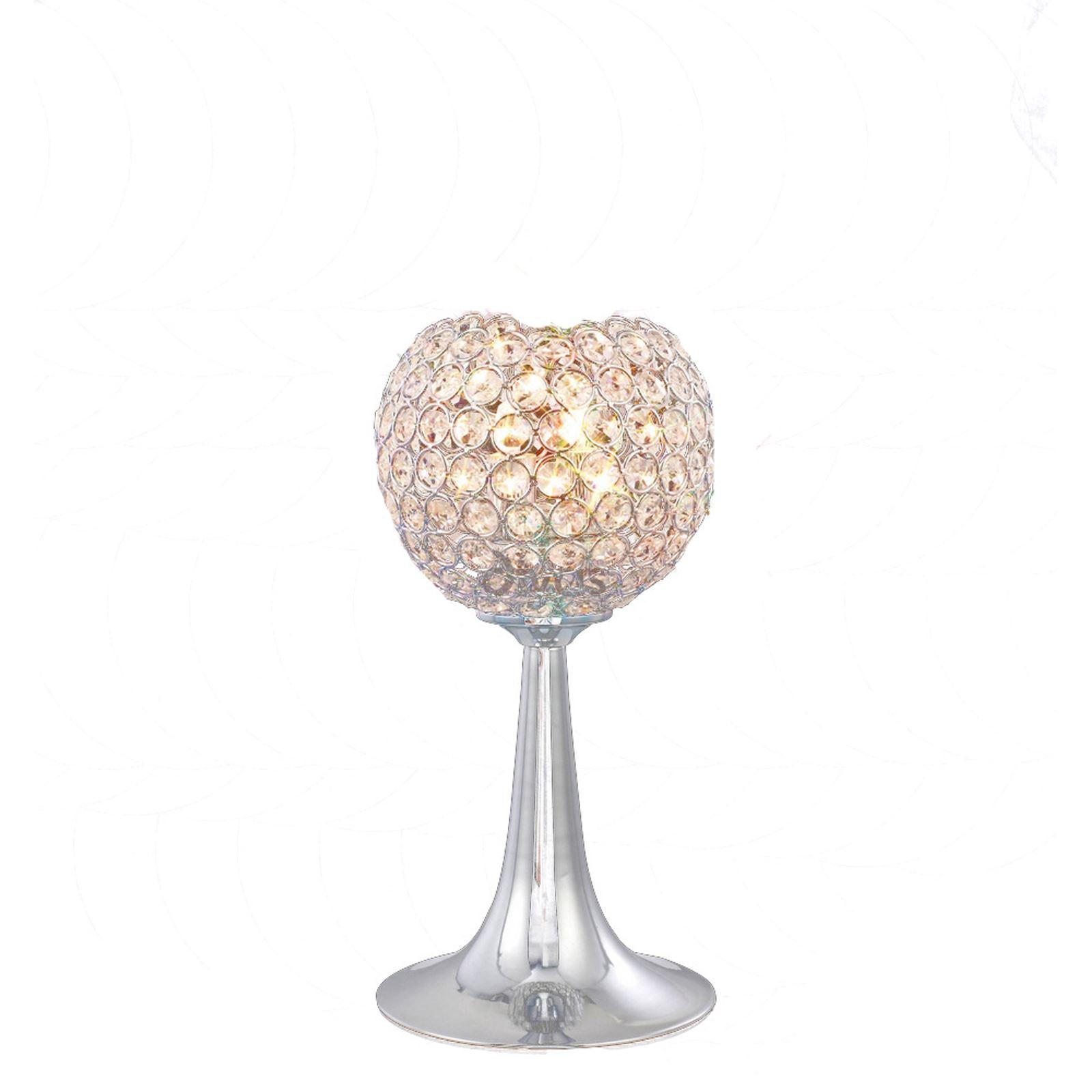 Modern And Stylish Table Lamp 2 Light Polished Chrome/Crystal