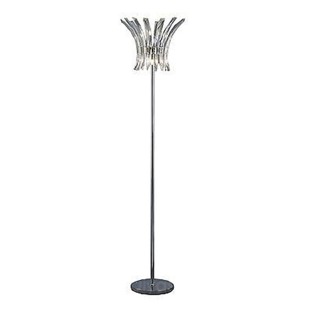 Sinclair Floor Lamp 4 Light Polished Chrome