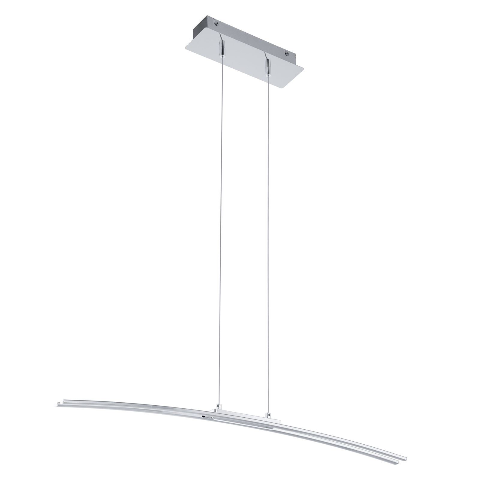Lasana Led Hanging Light Plastic White Shade Aluminium Steel Chrome