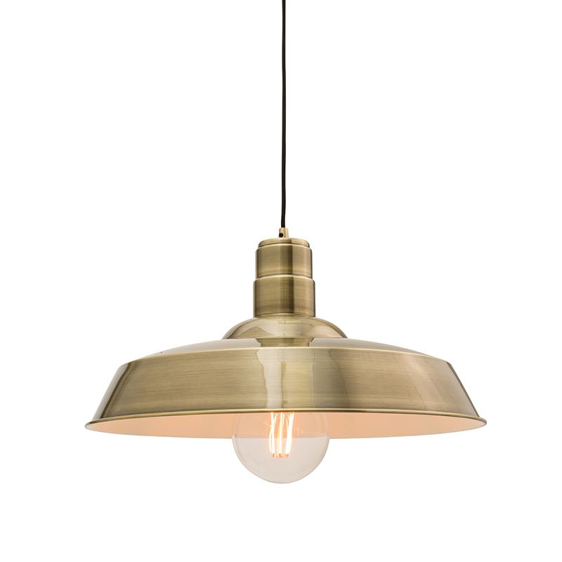 1 LED Single Antique Brass Metal Plate Finish Ceiling Pendant Light With Empire Shape, Antique Style For Any Room