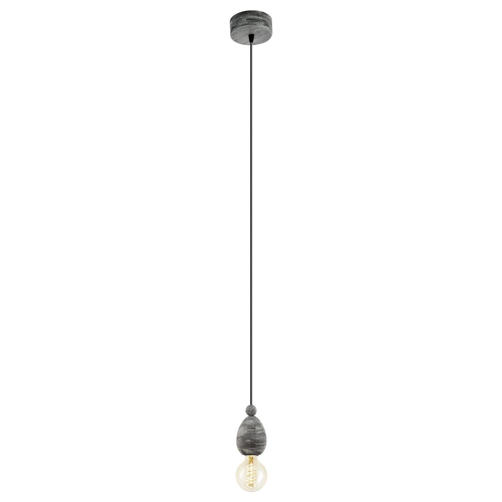 Avoltri 1 Hanging Pendant Light E27 Patina Black Finish