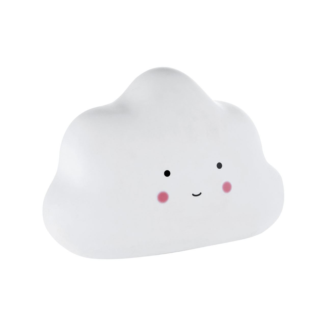 Kids Cloud Night Light, White Ceramic, In-Line Switch