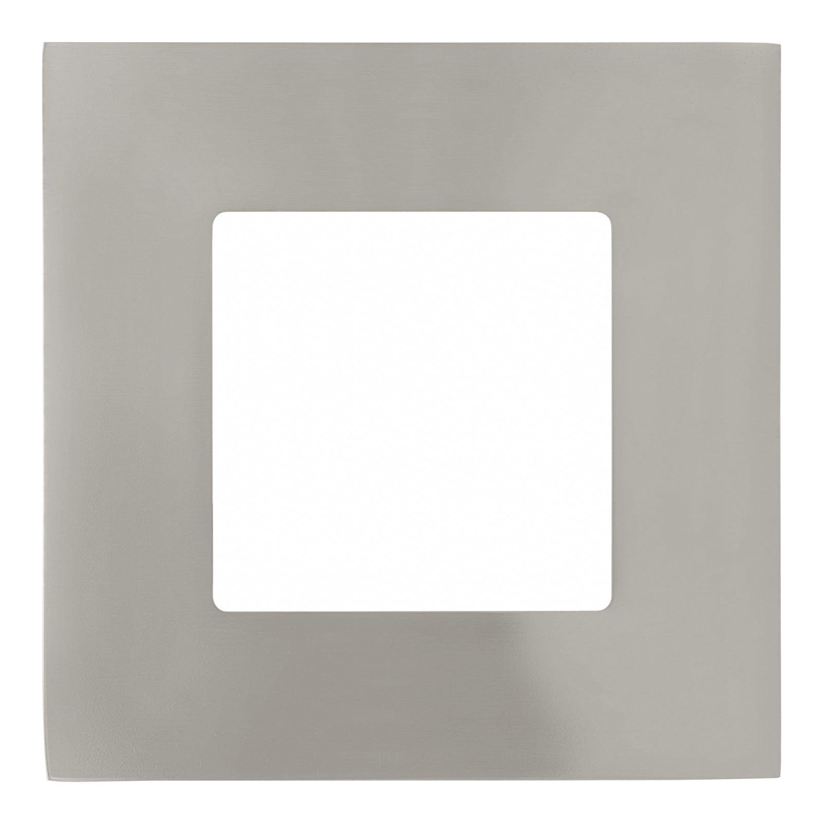 Fueva 3X Led Square Recessed Light Metal Cast Nickel Matt Plastic White Shade