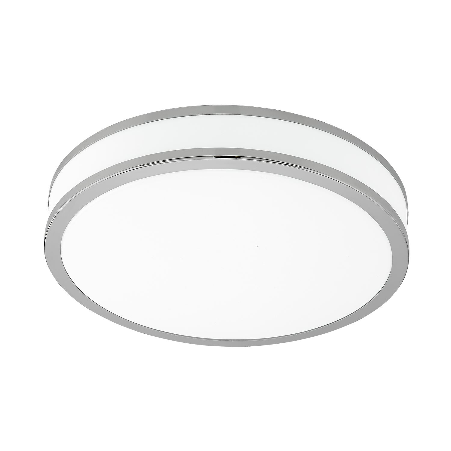 Palermo Led Ceiling Light Steel Warm White Dia 400mm Light Chrome