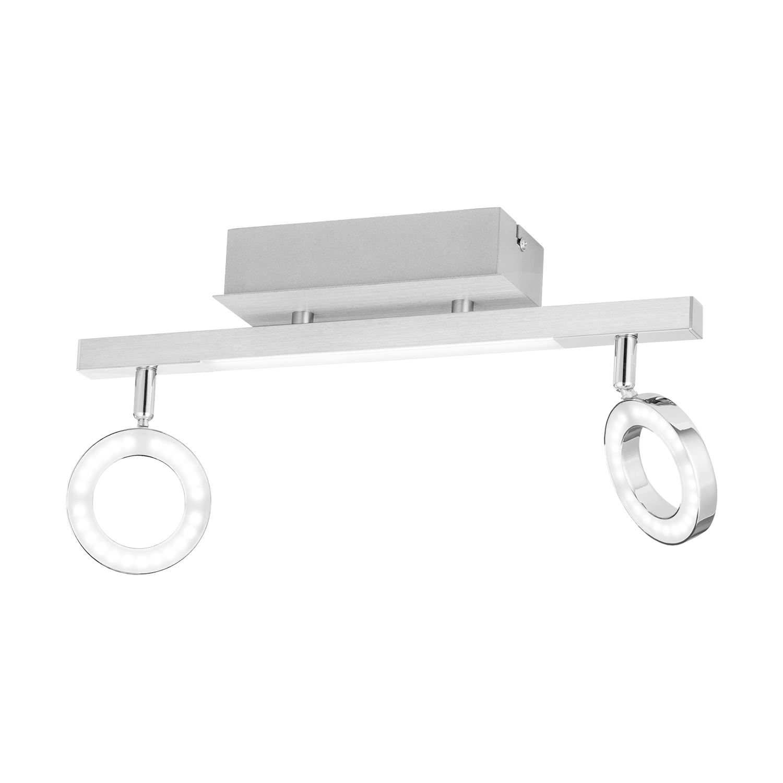 Cardillio Wall Light Aluminium Chrome 2 Lights