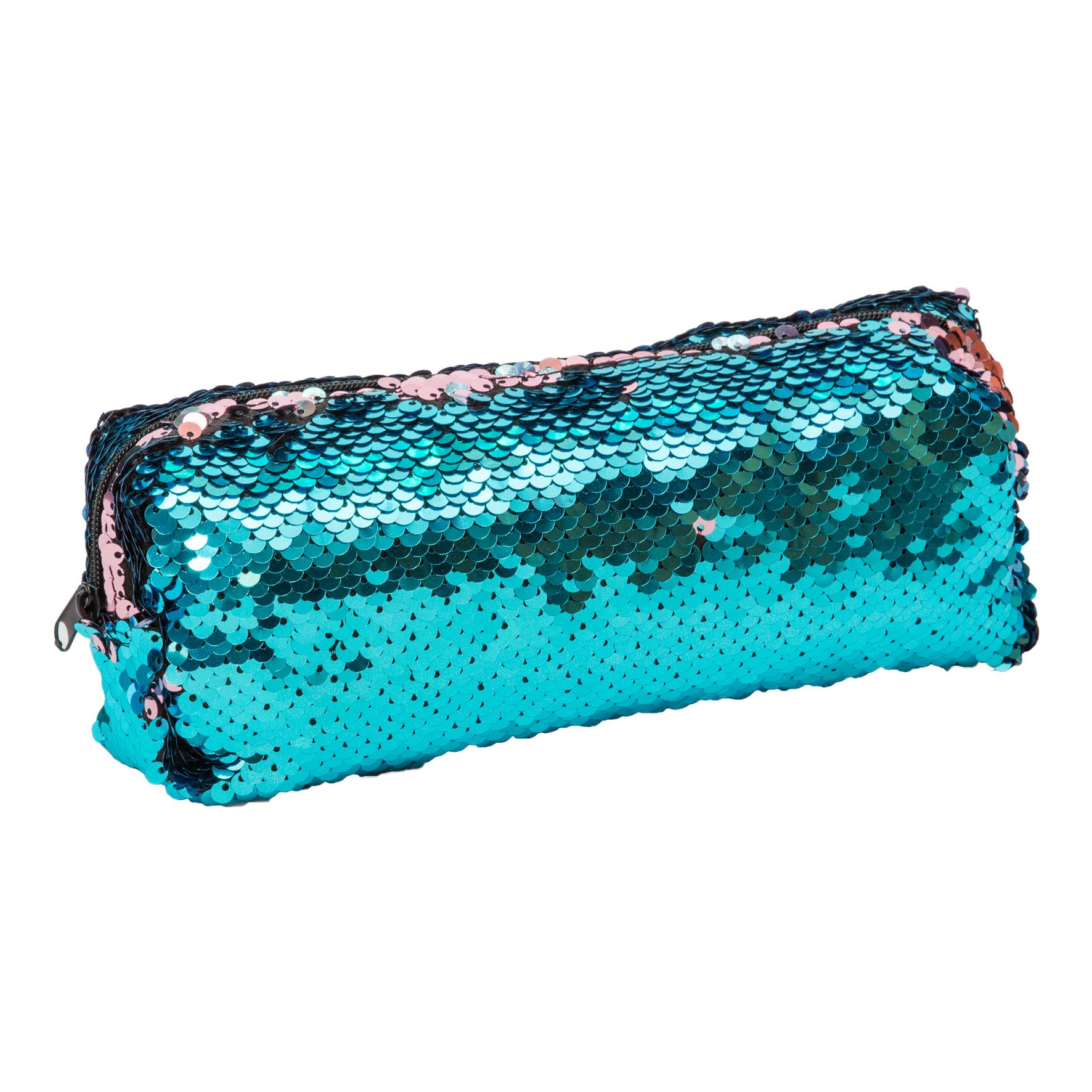 Mermaid Tales Blue and Pink Reversible Sequin Pencil Case