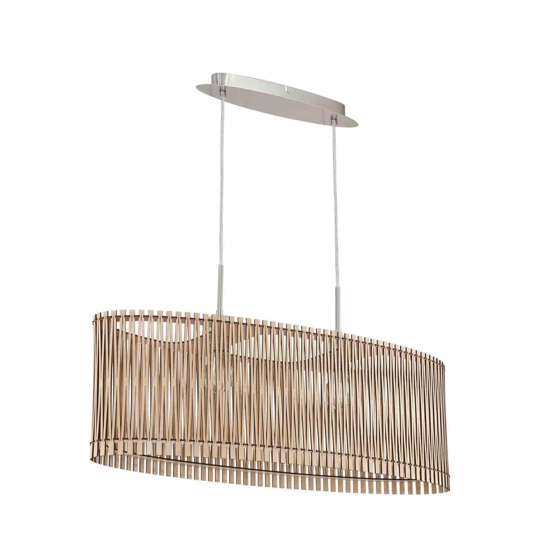 Sendero Steel 1 Hanging Light Dia 775mm E27 Maple Wood Shade