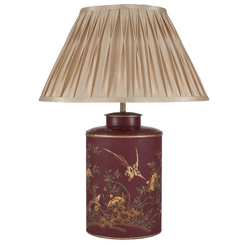 Golden Bird Hand Painted Table Lamp Base Only