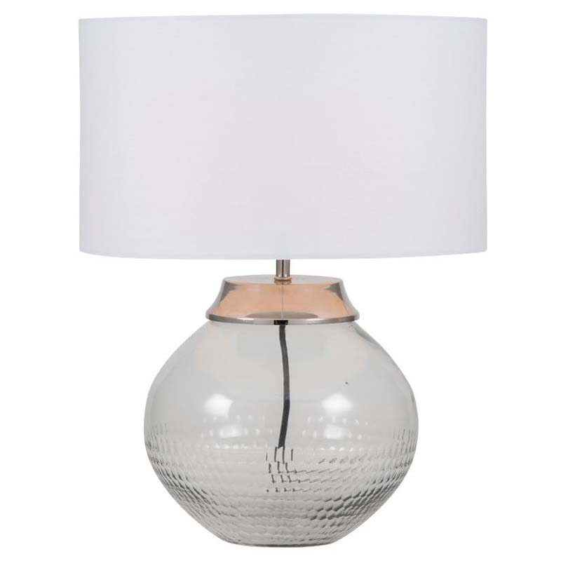 Hand Cut Glass Table Lamp