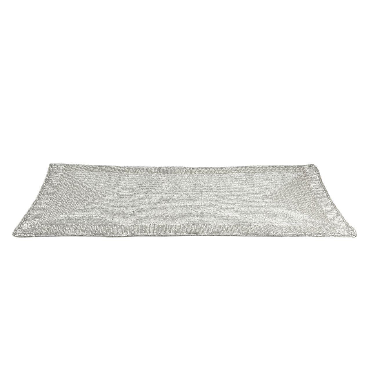 Silver Emboidered Table Runner