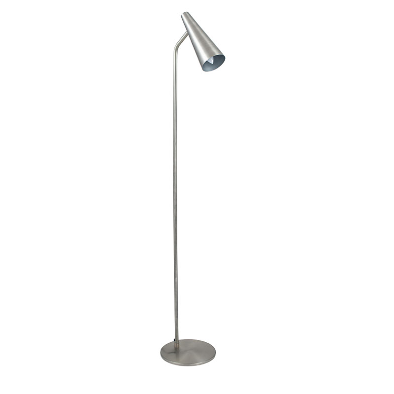 Antique Silver Task Floor Lamp