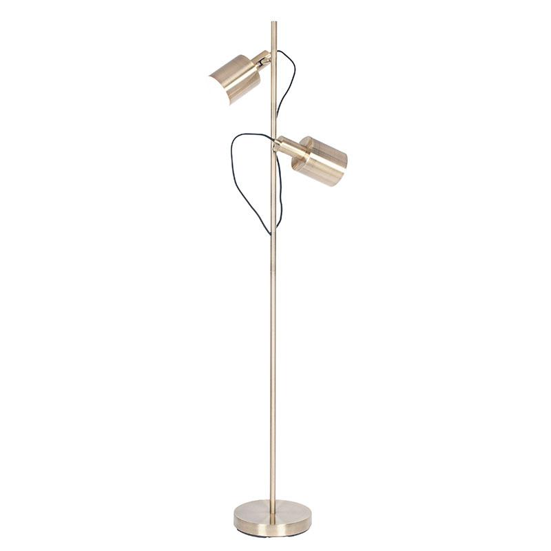 Antique Brass Metal Task Floor Lamp
