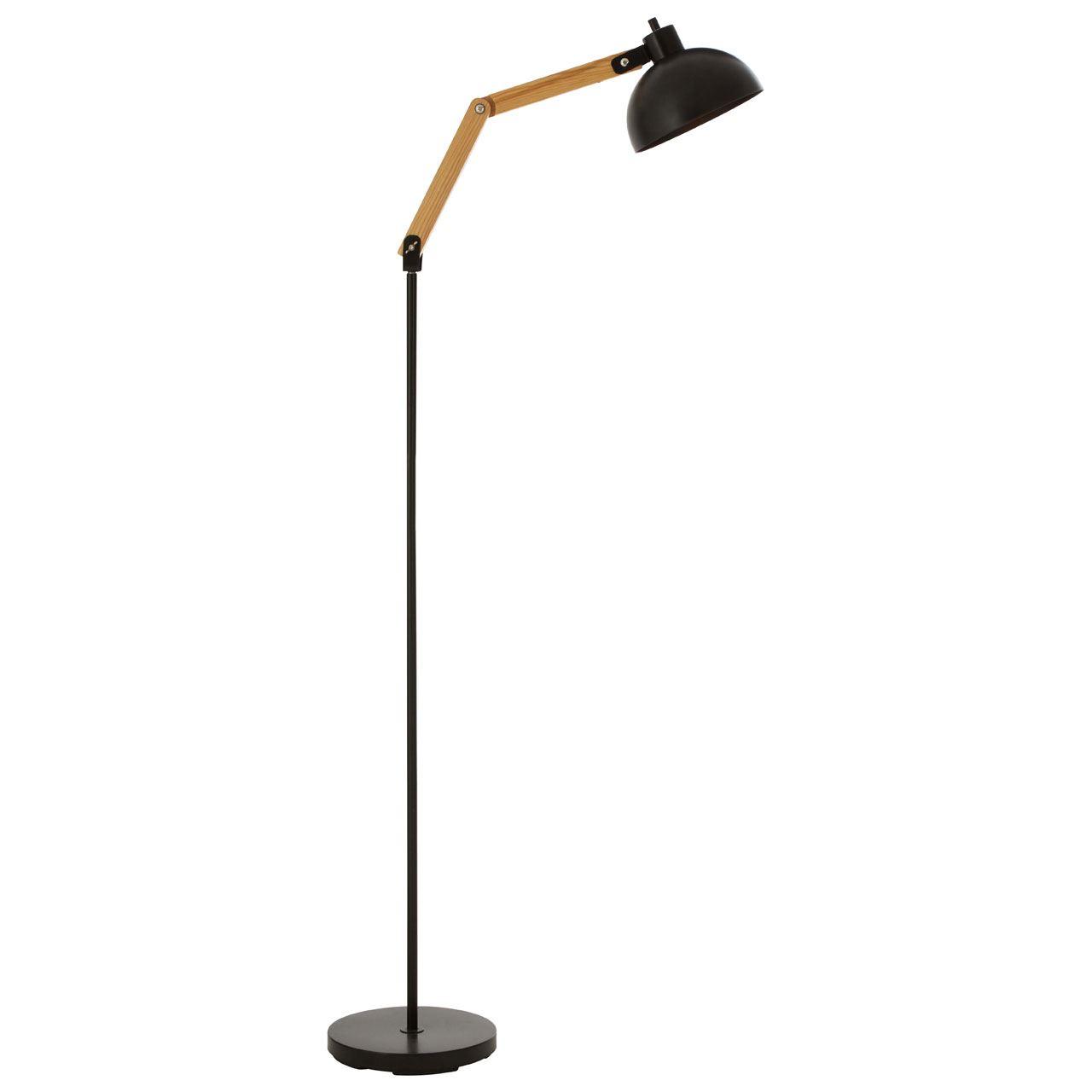 Blair Floor Lamp, Wood / Metal, Black