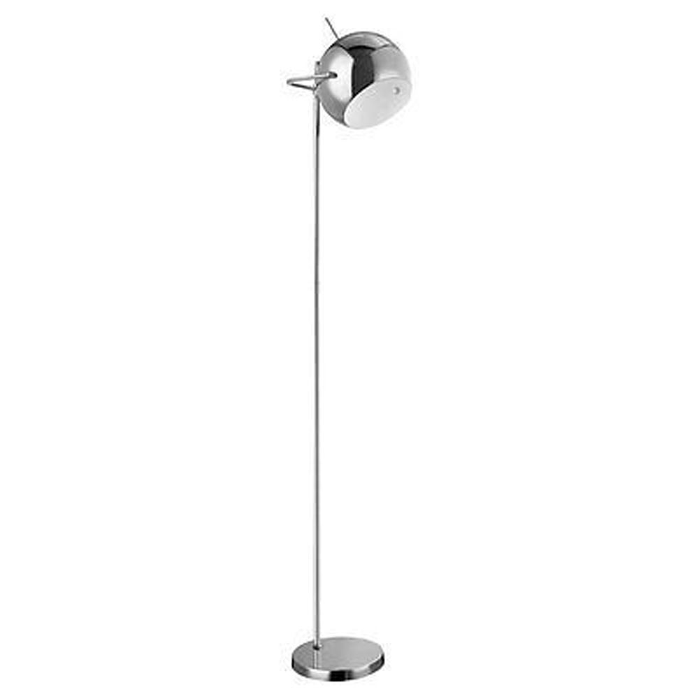 Floor Lamp,Chrome/White Inside