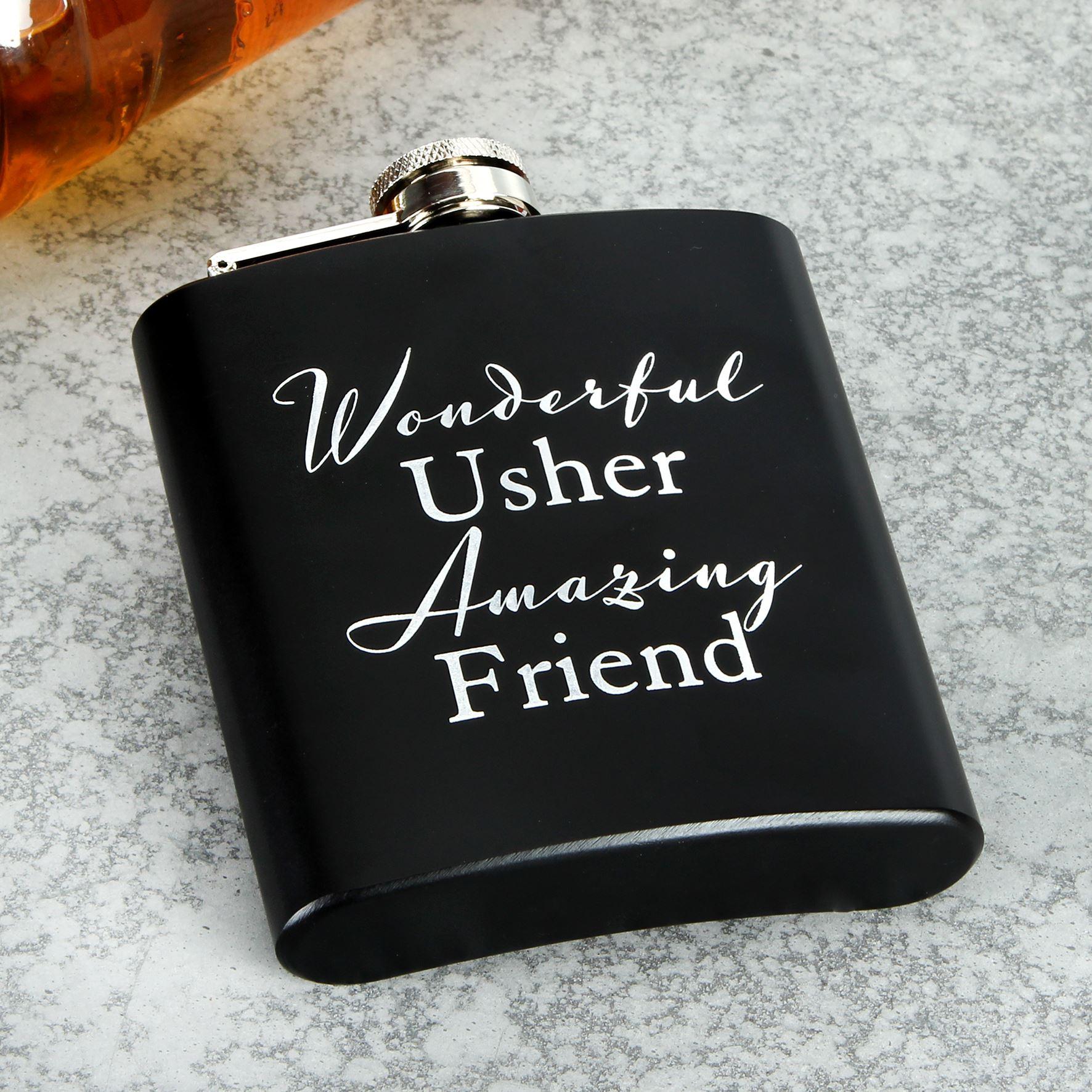 Amore 6Oz Hip Flask - Wonderful Usher