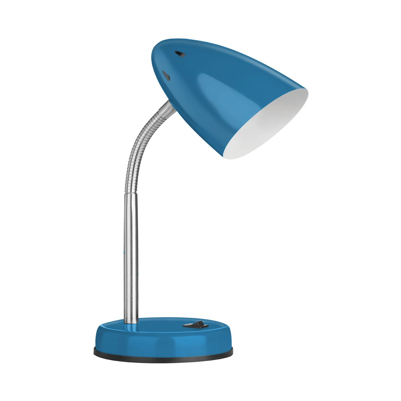 Desk Lamp (Eu Plug),Blue Metal,Chrome
