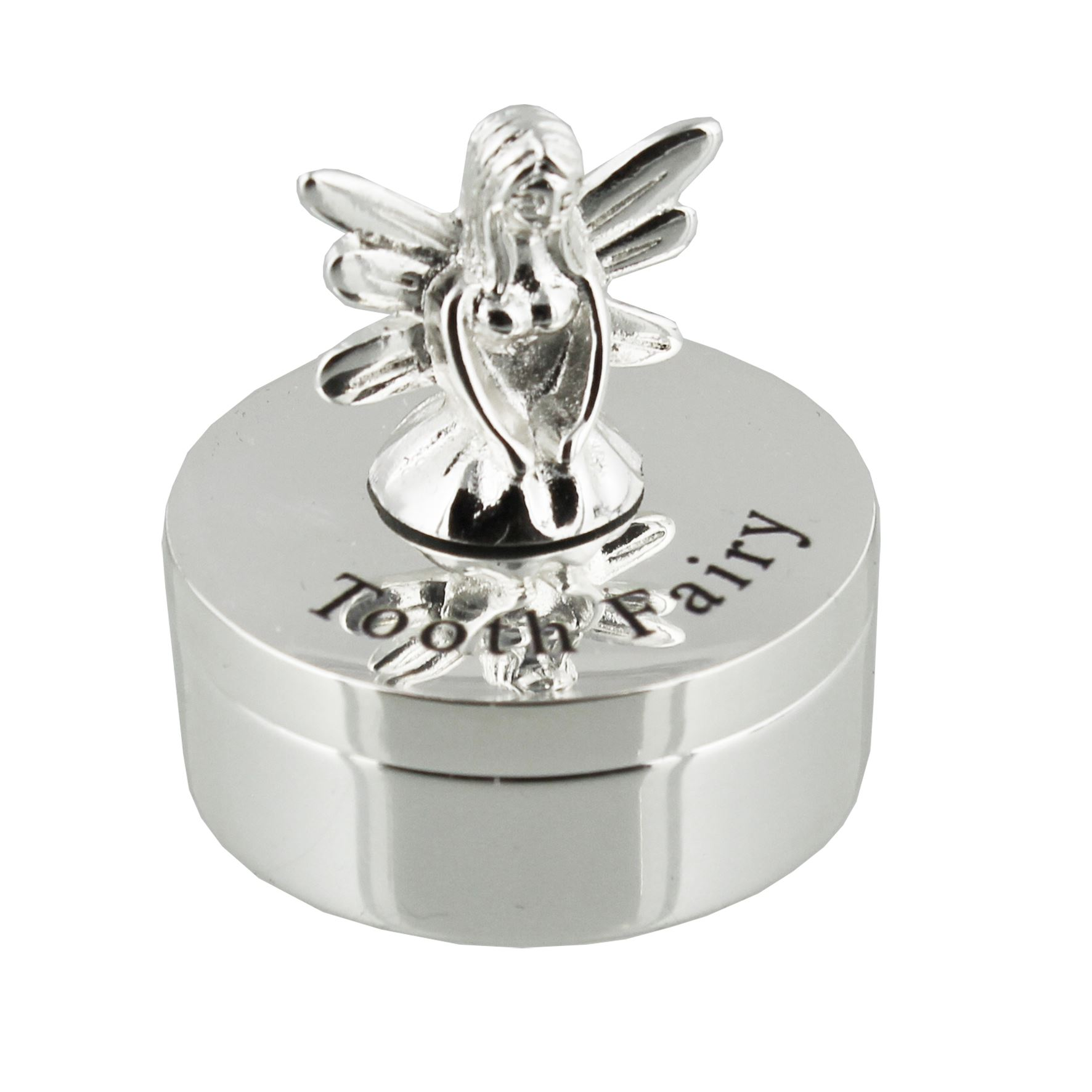 Silverplated Tooth Fairy Trinket Box