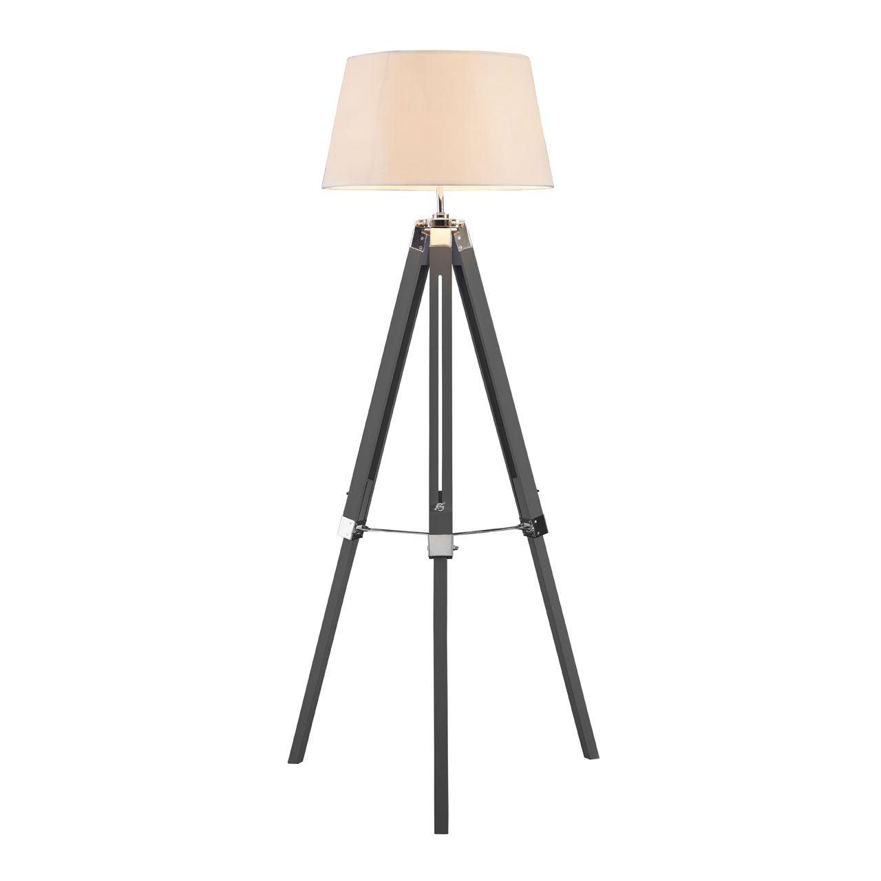 Bailey Floor Lamp, Grey / Tripod