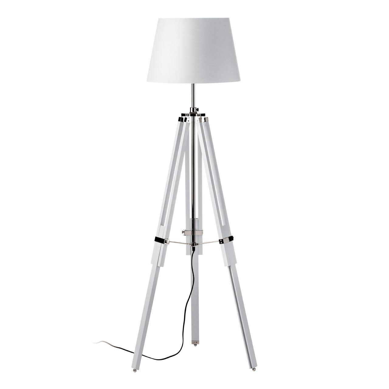 Floor Lamp, Tripod Base, White