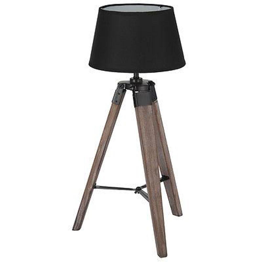 Stylish Tripod Lamp Metal And Wood Industrial Design