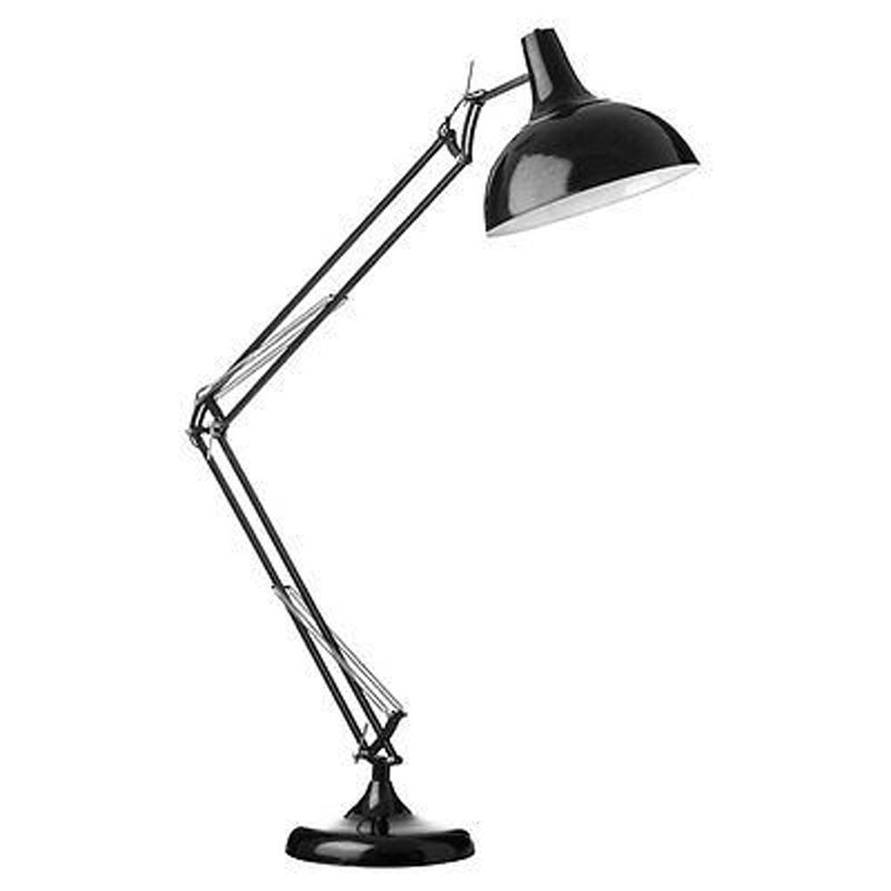 Study Floor Lamp,Black Metal,Fully Adjustable