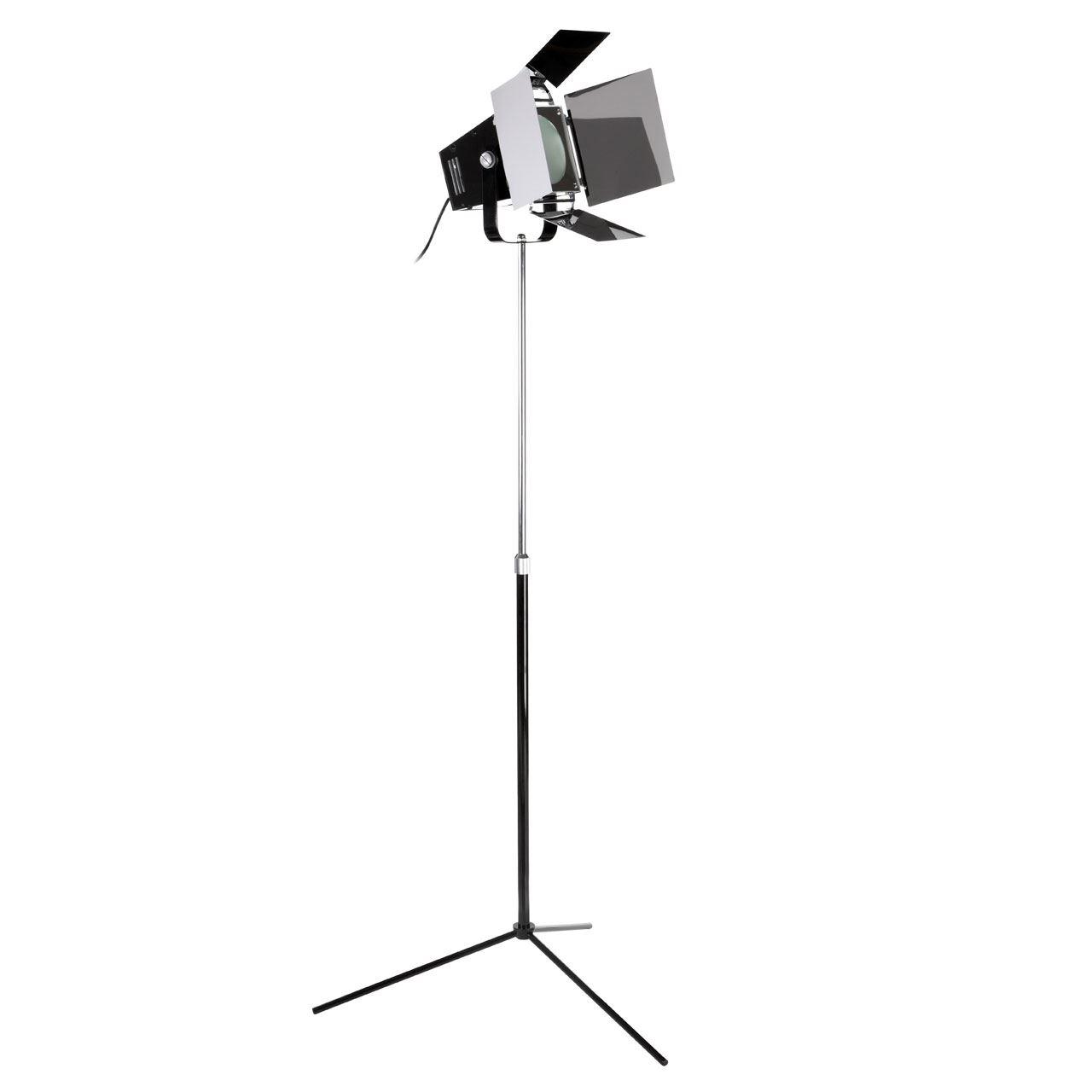 Spotlight Floor Lamp, Black