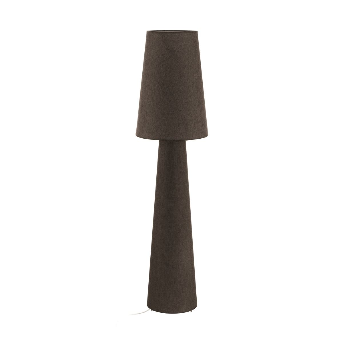Brown Table Lamp With Fabric Lamp Base & Shade