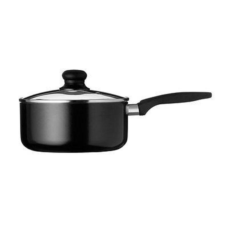 Saucepan,Black Aluminium Non-Stick Xylan