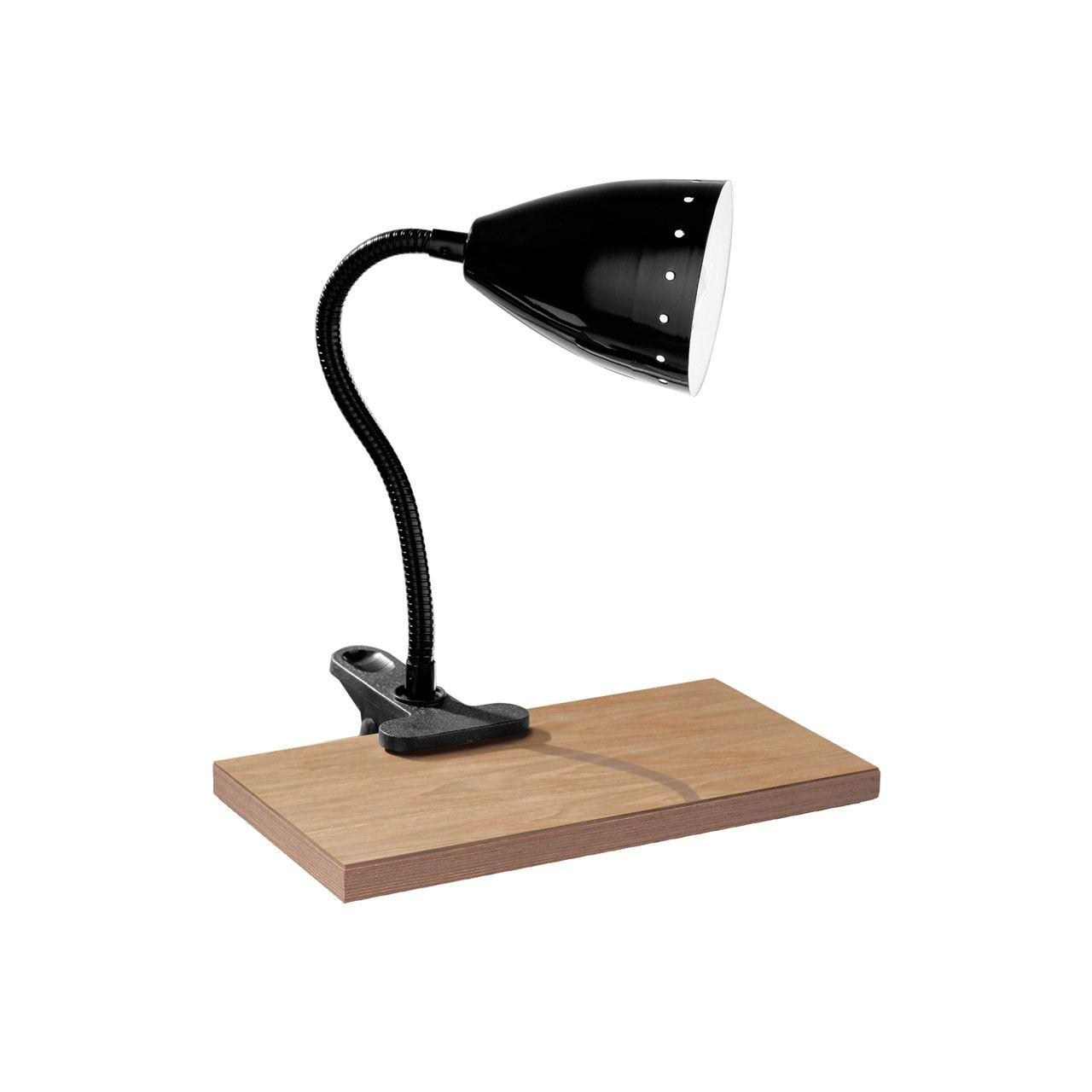 Flexi Desk Lamp, Clip, Black