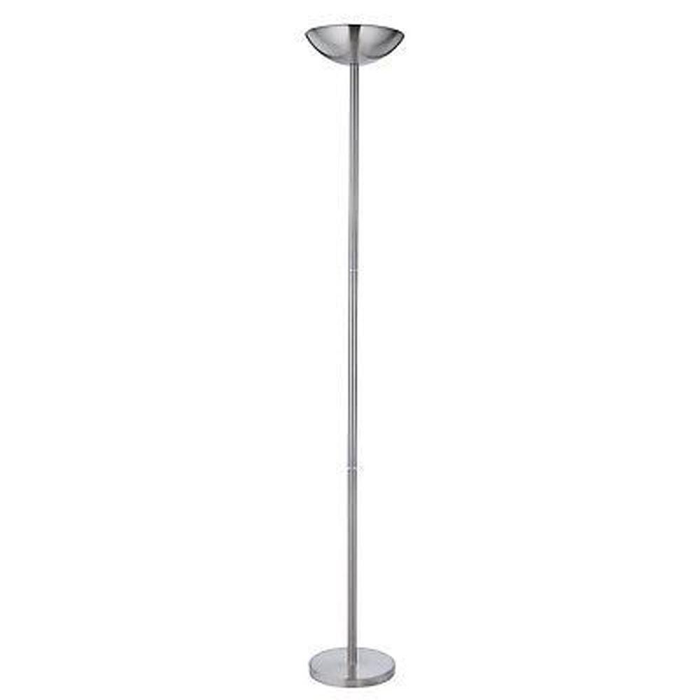 Uplighter - Satin Silver Halogen Polelight