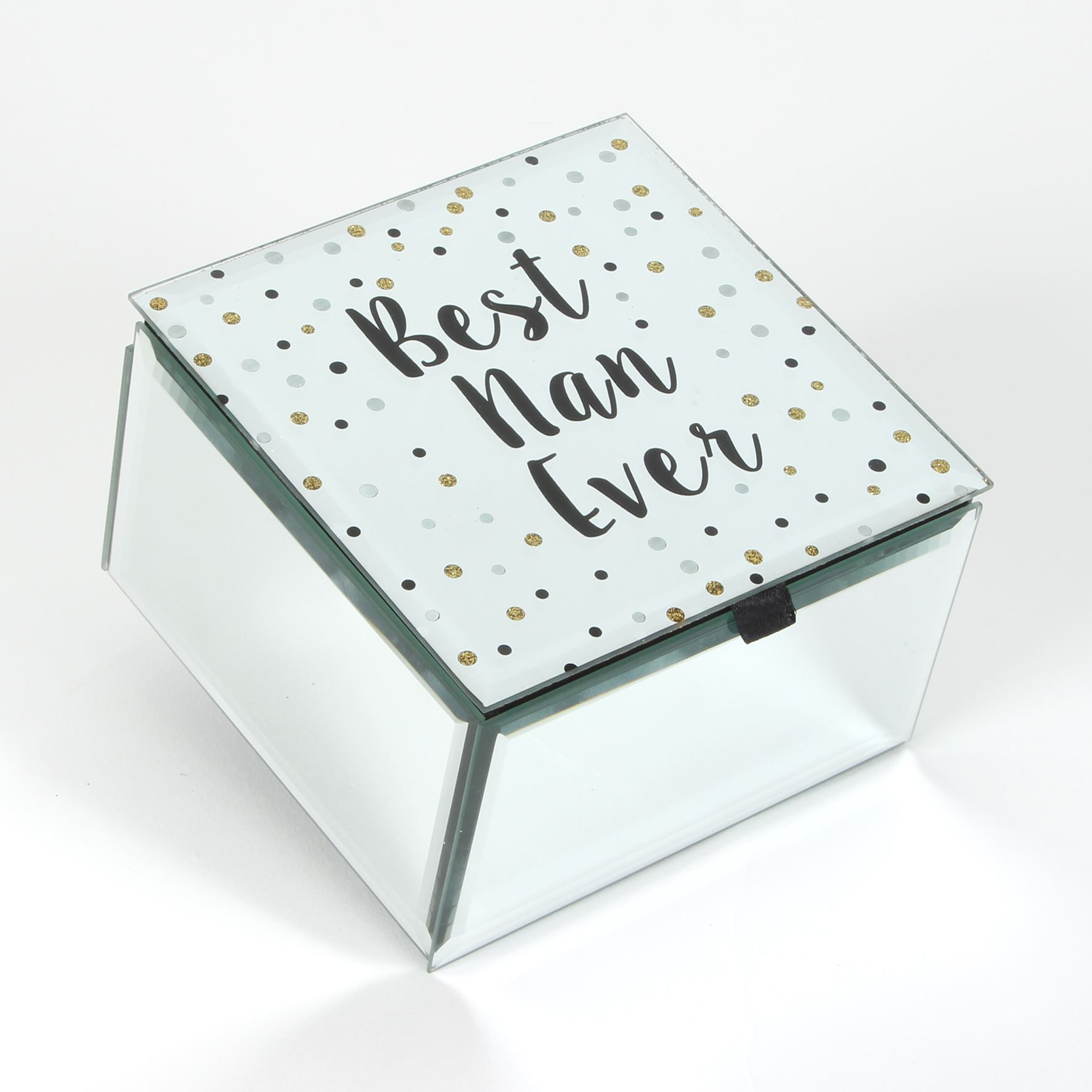 Celebrations Best Nan Ever Glass Trinket Box