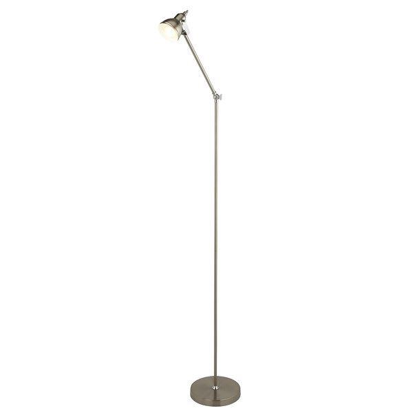 Focus Floor Lamp, Satin Silver