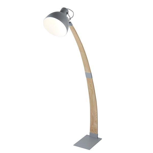 Nanna Floor Lamp, Ash Wood, Matt Grey