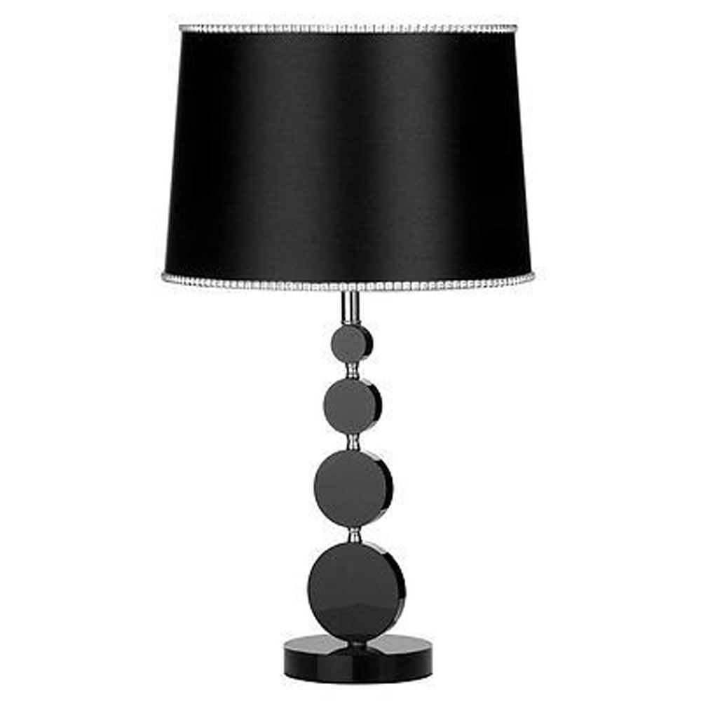 Elegant Metal Crystal Base Design Table Lamp Fabric Shade - Home Lighting