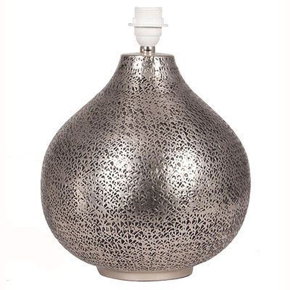 Moroccan Souk Hammered Table Lamp Base Only Beautiful Finish