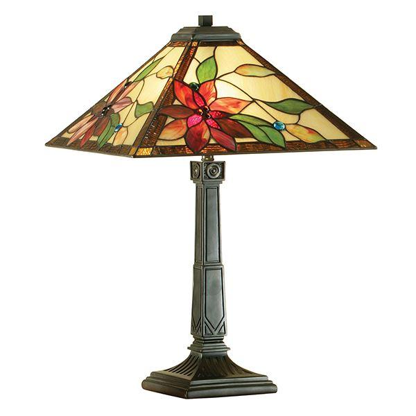 Lelani Tiffany Style Table Lamp - Used For Interiors