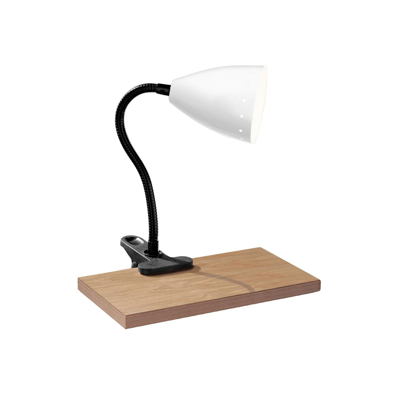 Flexi Desk Lamp, Clip, White