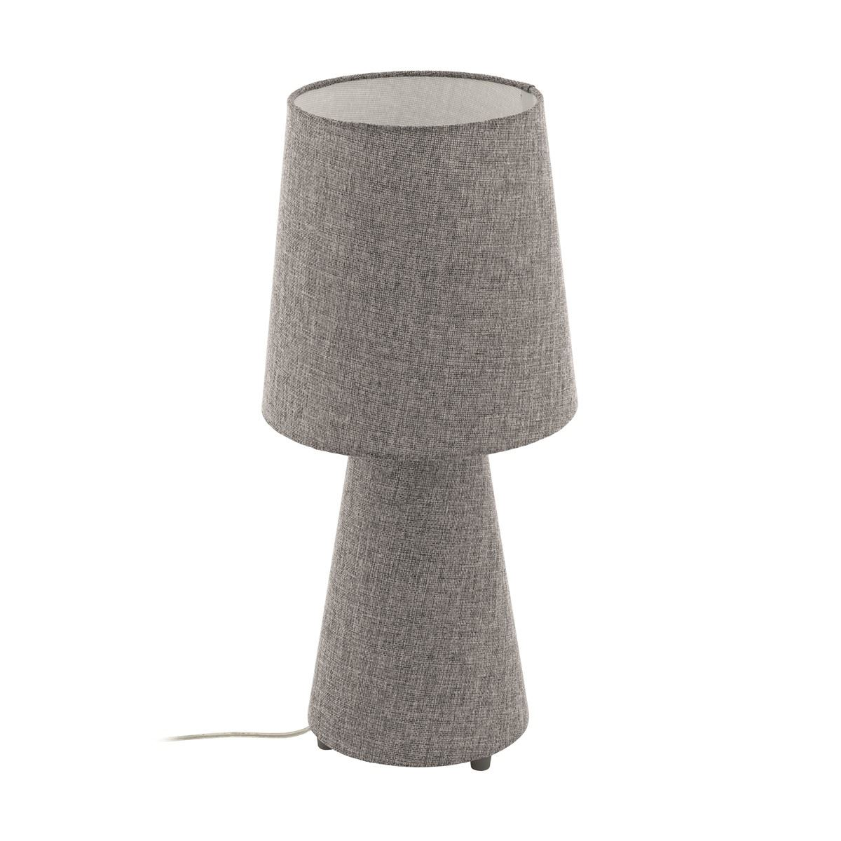 Modern Style Linen Bedside Fabric Table Lamp With Grey Shade
