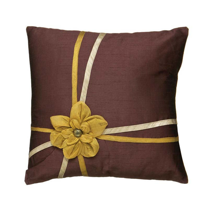 Eloise Cushion,Amethyst And Gold