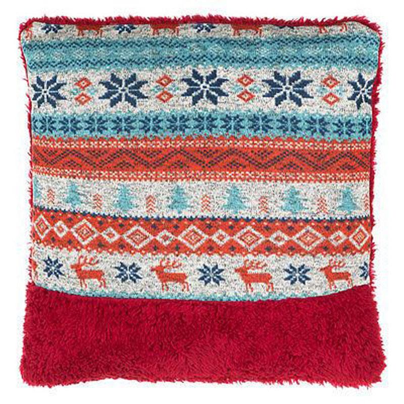Heritage Fairisle Cushion,100% Polyester,Re