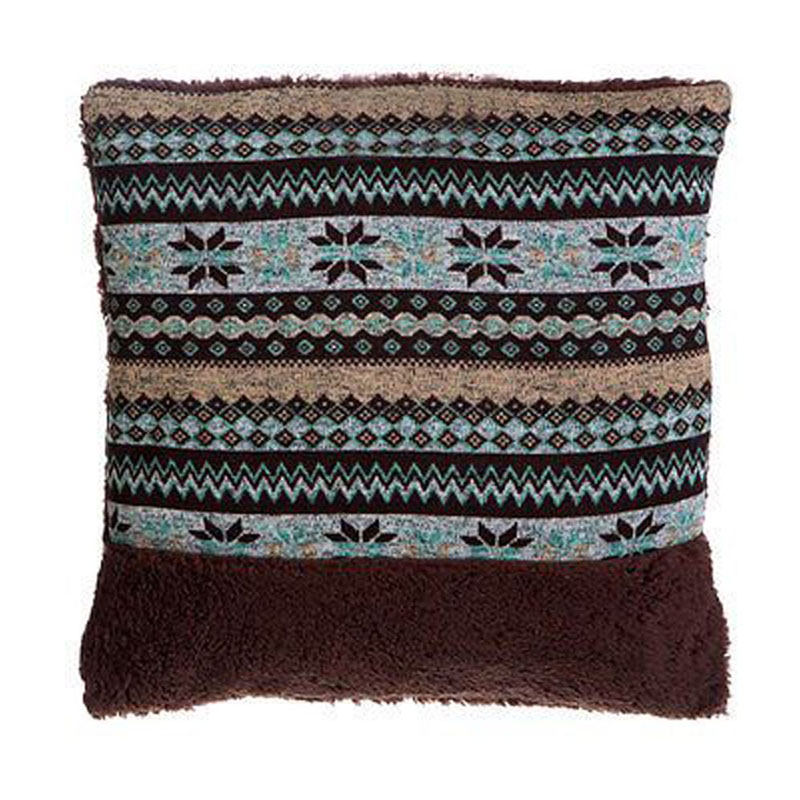 Heritage Fairisle Cushion,100% Polyester,Brown