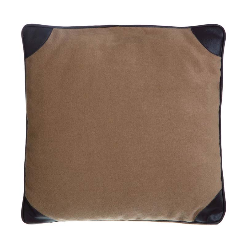 Heritage Texture Cushion,Polyester & Acrylic Mix,Leather Effect