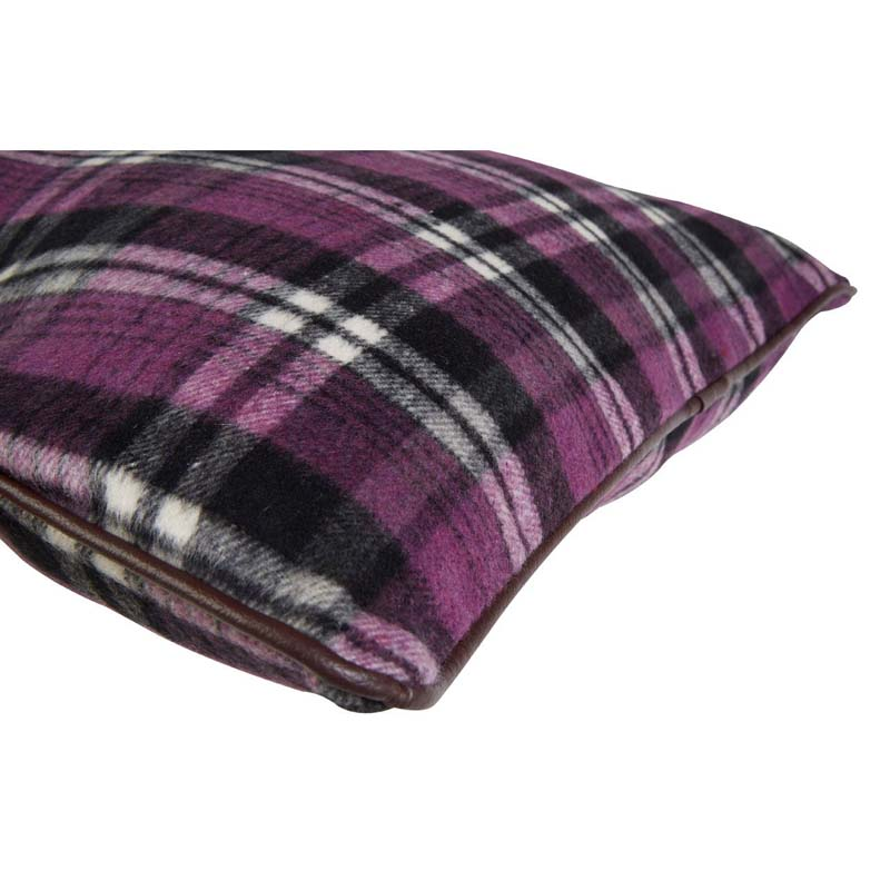 Heritage Large Cushion,Polyester & Acrylic Mix,Purple Check