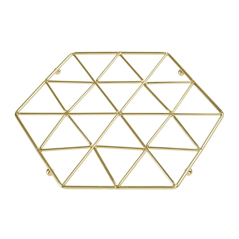 Vertex Trivet,Gold Plated,Iron Wire