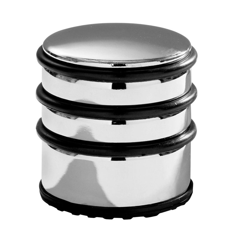 Door Stopper,Chrome,Protective Rubber Bands