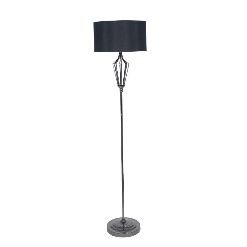 Black Nickel Metal Structured Floor Lamp Lamp