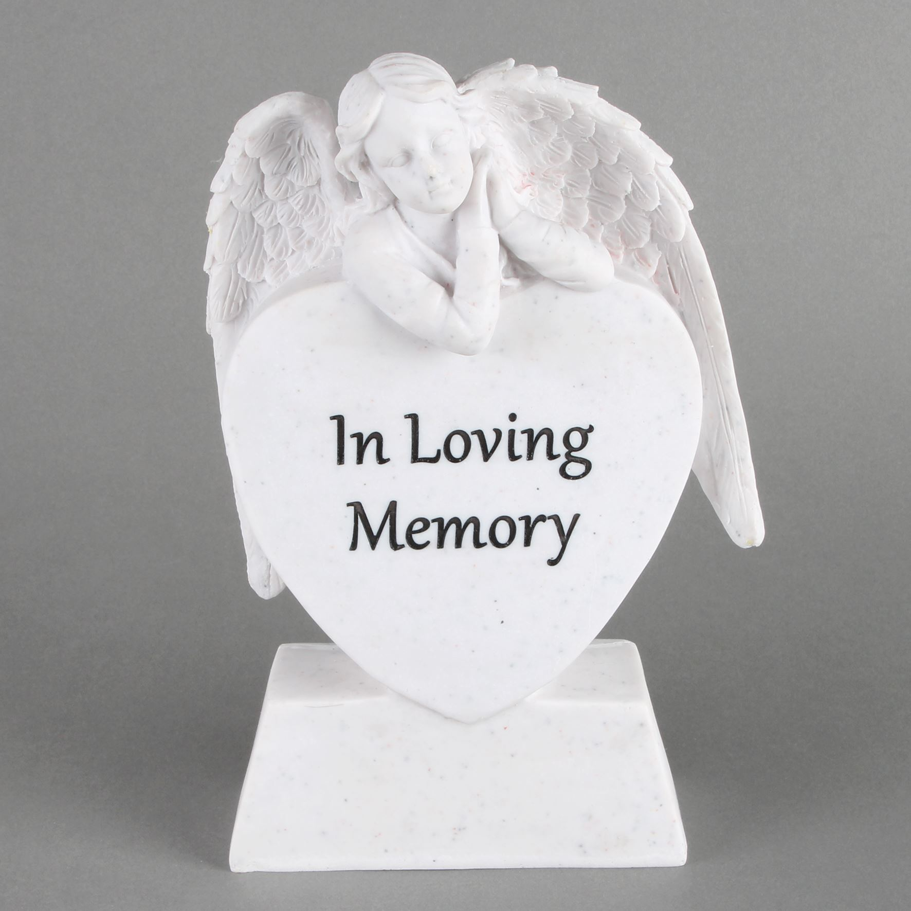 Thoughts of You Angel Leaning On Heart - In Loving Memory