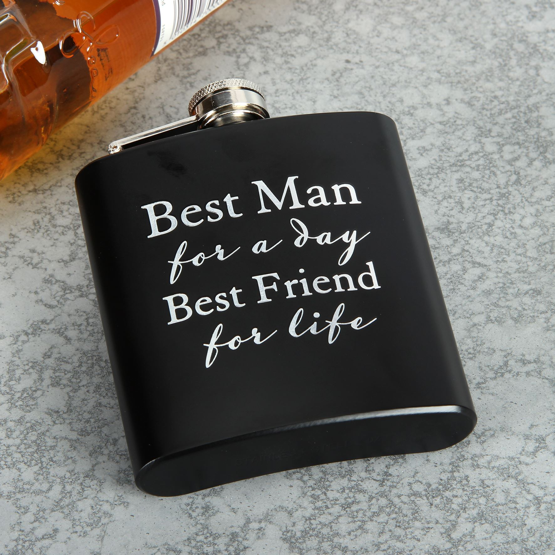 Amore 6Oz Hip Flask - Best Man For A Day....
