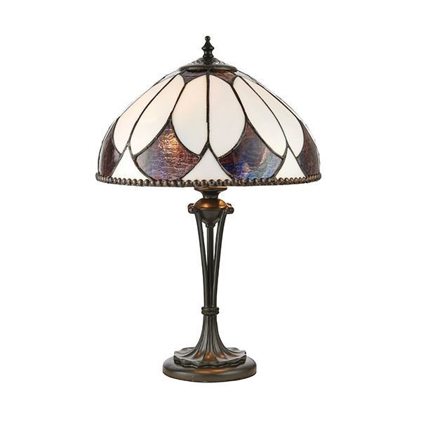 Aragon Bronze Polyresin Tiffany Style Small Table Lamp 60W
